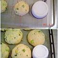 菠菜地瓜麵包(最後發酵前後)