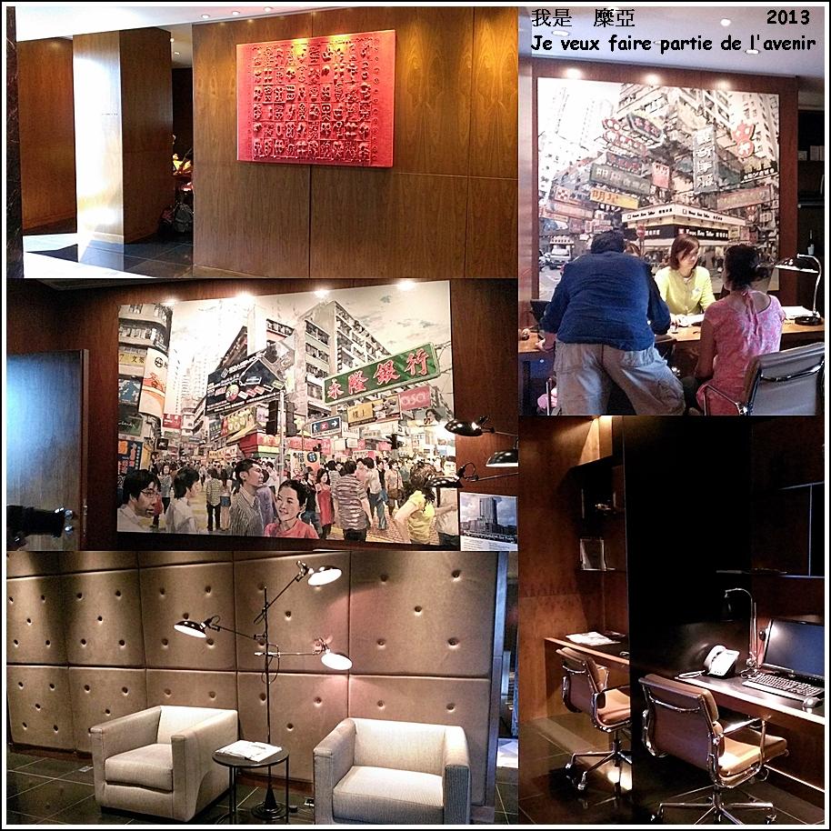 28F check out的地方也有許多酒店知名藝術品及電腦可以使用
