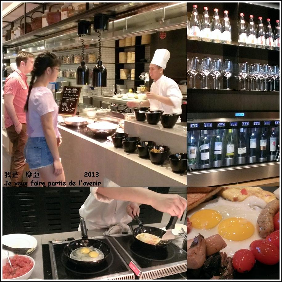 廚師現場服務荷包蛋的部份   會很親切的詢問要半熟or全熟