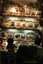 食物見本櫥窗小孩