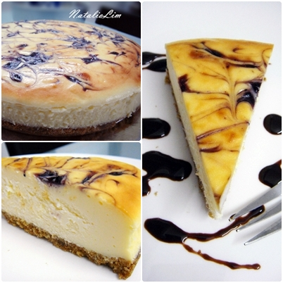 blueberry marble cheesecake