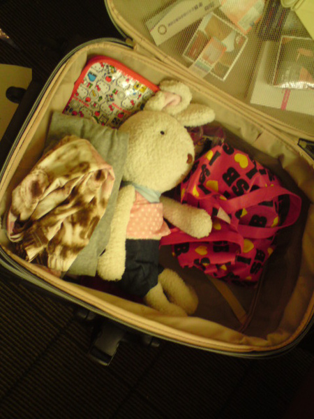 哈哈哈  感覺我的行李 裝了屍體.....