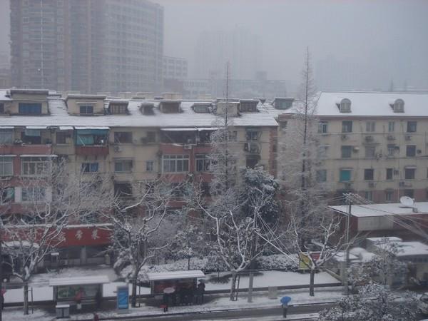 窗外的雪景