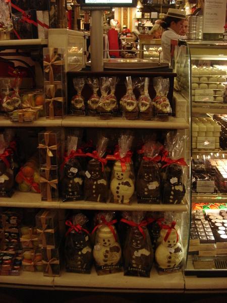 連巧克力都是聖誕節造型