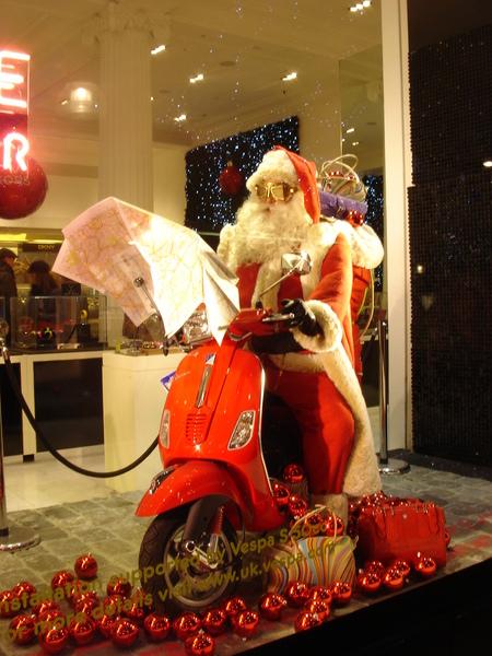 聖誕老人騎車兜風