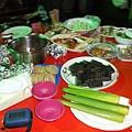 華山民宿豐盛的烤肉