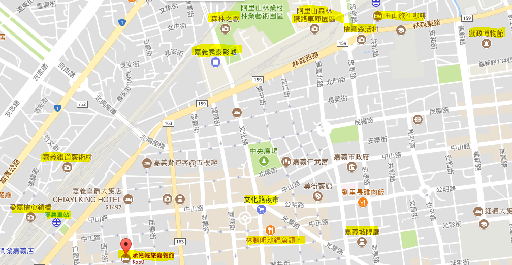 承億輕旅google map