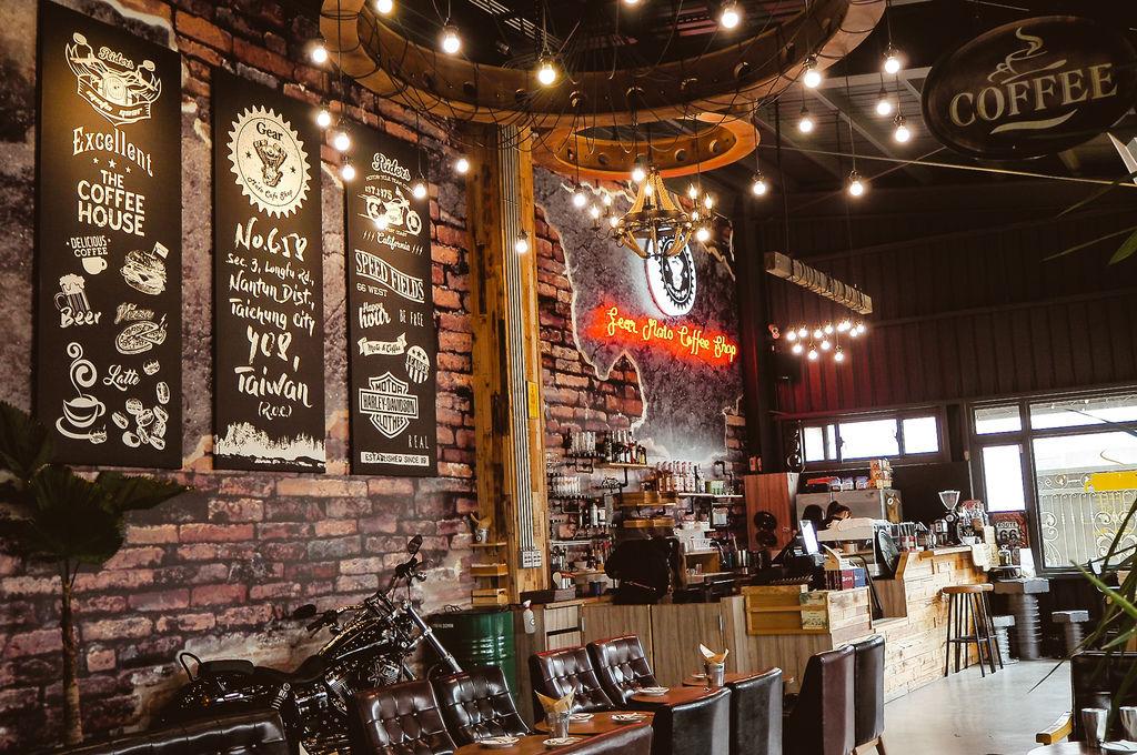 大花說齒輪咖啡gearmotocafeshop台中南屯區早午餐美食哈雷重機主題餐廳04