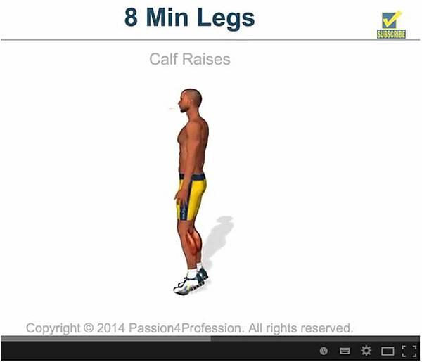 8min les calf raises