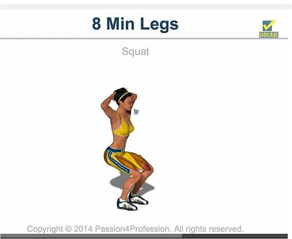 8min legs squat