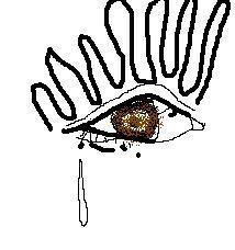 說著說著,眼線就暈了