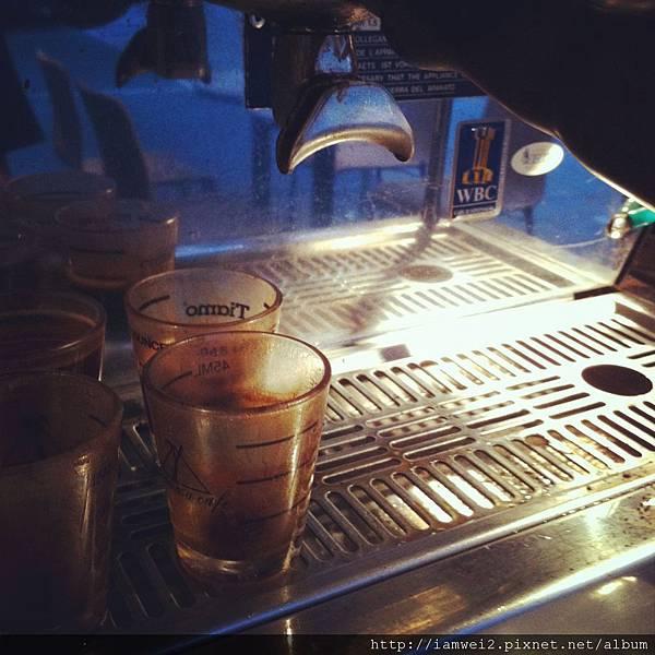 關於咖啡練習的萃取。
