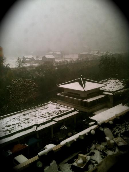 我從飯店窗戶看出去的畫面
