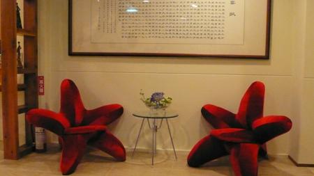 火紅迎賓椅