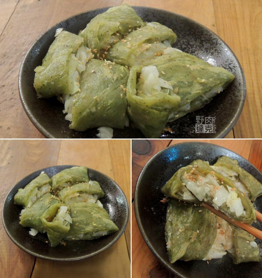 柳川庵的香椿蔬菜抓餅,非常好吃。