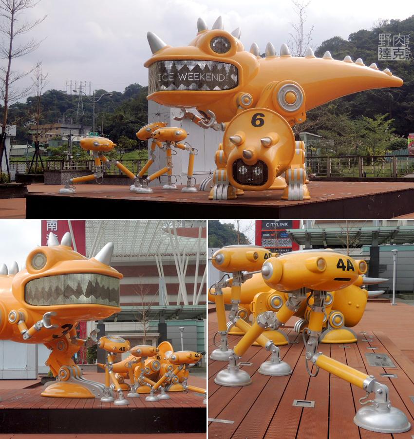 公共藝術大師李明道作品《守護天使機械獸》
