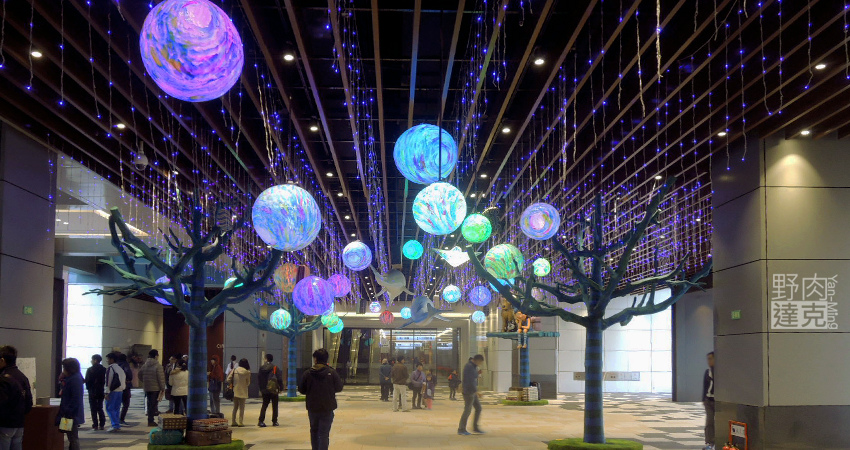 Citylink南港車站 幾米的大型裝置藝術 星空與海