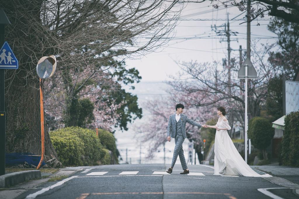 洋洋海外婚紗推薦 日本鳥取婚紗 櫻花拍攝
