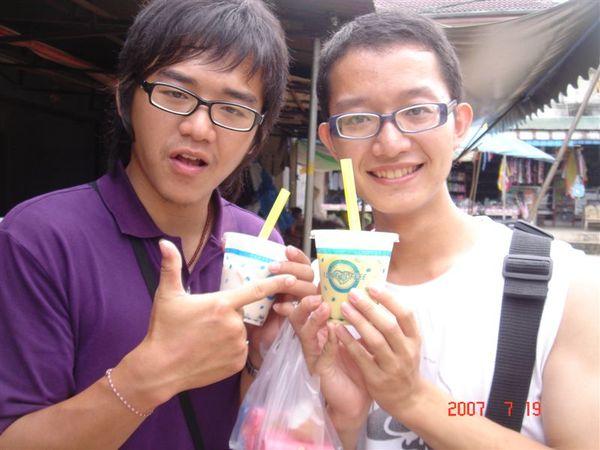 QQ milk tea,珍珠奶茶,我的是榴槤口味