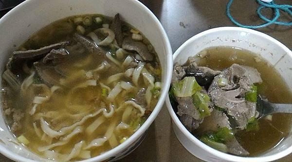 豬肝湯與豬肝湯麵