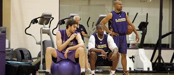 Pau Gasol, Kobe Bryant & Derek Fisher