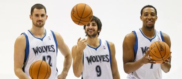 Kevin Love, Ricky Rubio & Derrick Williams