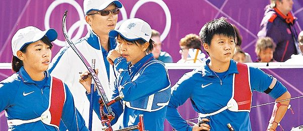 中華女子射箭隊 / 圖片取自蘋果日報網站(http://sharpdaily.com.tw)