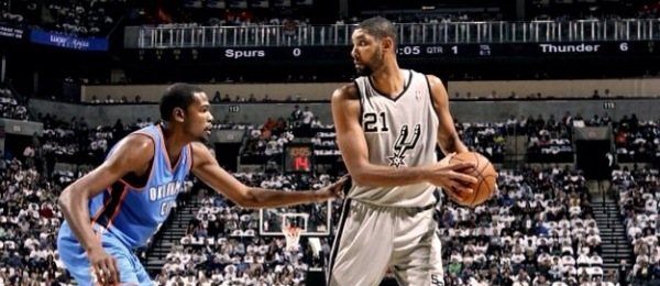 Tim Duncan vs Kevin Durant