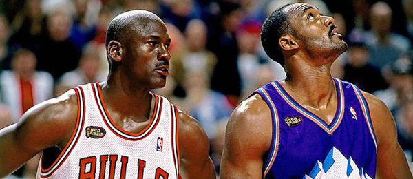 Michael Jordan & Karl Malone