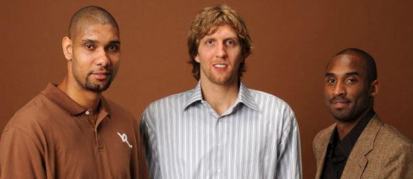 Tim Duncan, Dirk Nowitzki & Kobe Bryant