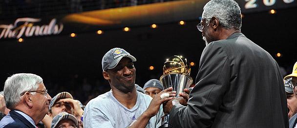Kobe Bryant & Bill Russell