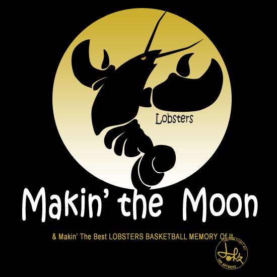 這是我的OBL設計2,發現黑色也滿酷的,而且也是星期天夜晚籃球的蝦子續曲:Making the Moon & Making the best LOBSTERS BASKETBALL MEMORY of it!