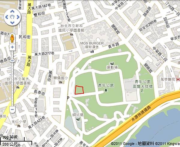 青年公園地圖