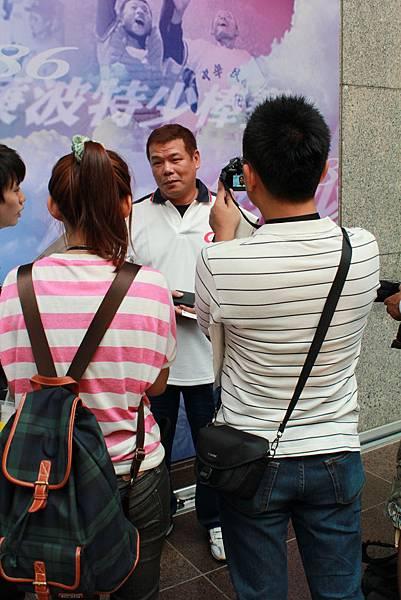 陳昭安先生受訪。