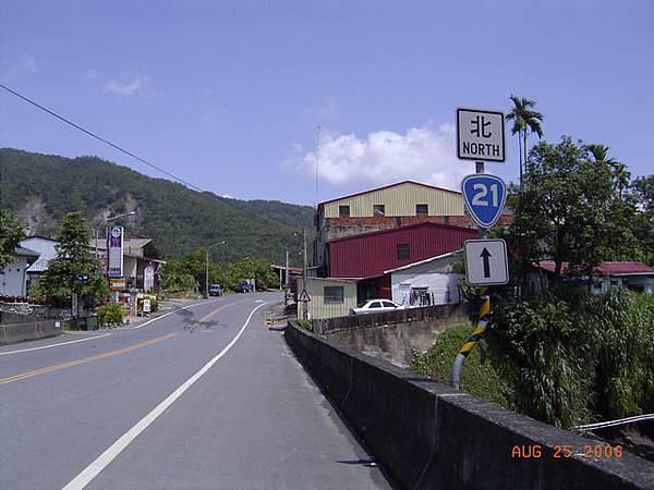 台21在甲仙與台20分道揚鑣,由此一去往玉山山脈前進了