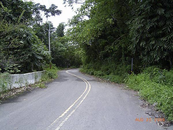 欠缺維護的茶山產業道路