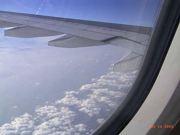 下方的陸地是雲林嘉義沿海