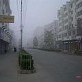 屯市(黃山市)之晨,起霧了