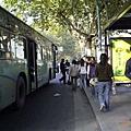 杭州公交靠車站了