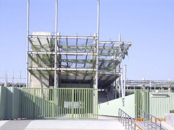 新烏日站,未完工的主建築