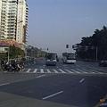 南京市北京東路-通往紫金山的路山
