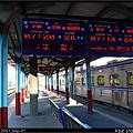 新竹站第二月台,等待進站中