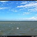 遠望港南焚化爐,2公里的濕地被海水佔據了