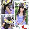 紫色婚紗♥花圈