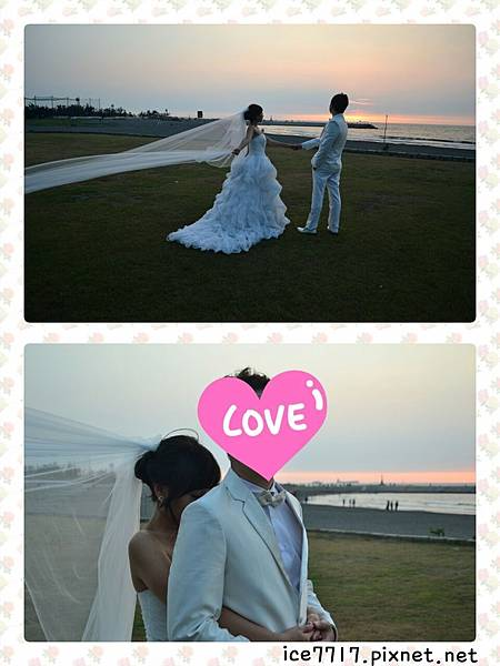 白色婚紗♥高盤髮+頭紗