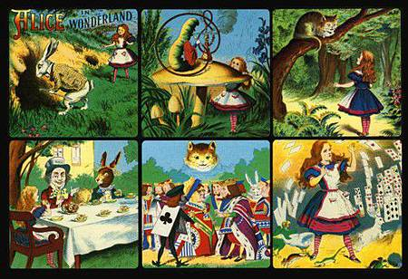 Alice in Wonderland collage - $95