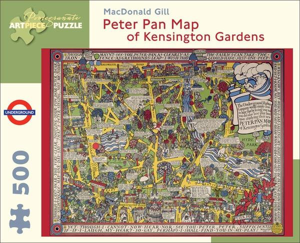 Pomegranate 500pcs Peter Pan Map of Kensington Gardens