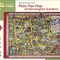 Pomegranate 500pcs Peter Pan Map of Kensington Gardens