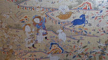 2015.02.04 520pcs Tapestry-Embroidery of Nine Goats Opening the New Year 緙繡九羊啓泰拼圖 (6).jpg