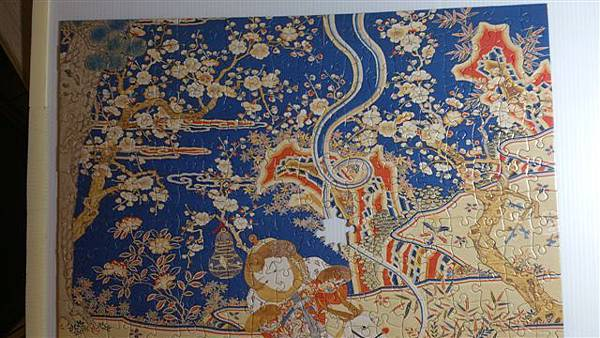 2015.02.04 520pcs Tapestry-Embroidery of Nine Goats Opening the New Year 緙繡九羊啓泰拼圖 (8).jpg
